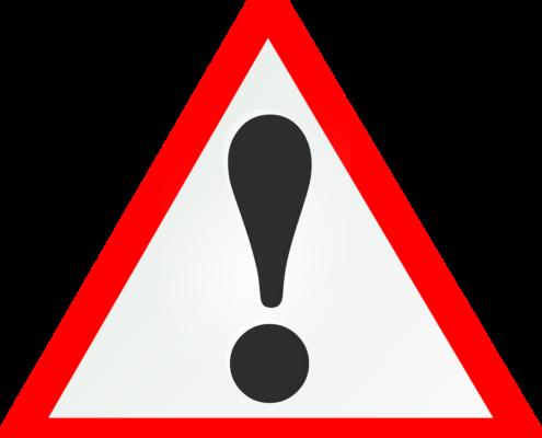 Uwaga! Znak Uwagi